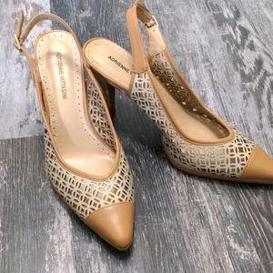 Adrienne Vittadini Pointed Toe Sling Back Heels 8